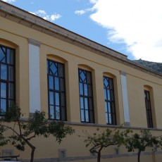 Restoration of facades of old listed primary school building
